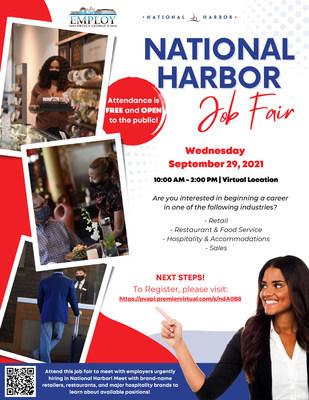 Flyer for EPG's National Harbor Job Fair