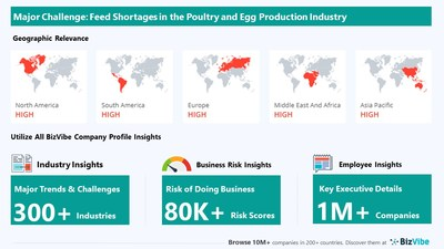 Snapshot of key challenge impacting BizVibe's poultry and egg production industry group.