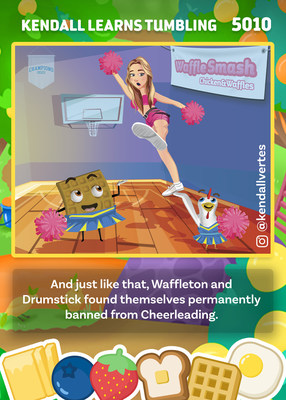 Waffle Smash: Chicken and Waffles, the game, incorporates the influencers of Piper Rockelle's Squad (and others including Kendall Vertes of Instagram with her 8.4 million followers) and put the influencers into the game itself.