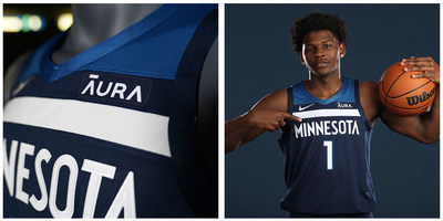 """The Minnesota Timberwolves announced Aura is now the """"Official Digital Security Partner"""" and Jersey Patch Partner."""