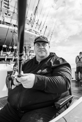 """Veteran Jason Walker, on Team Tangler, enjoyed the opportunity to get out on the open ocean. He added,""""Being able to get out in nature, with my restrictions, is comforting."""""""