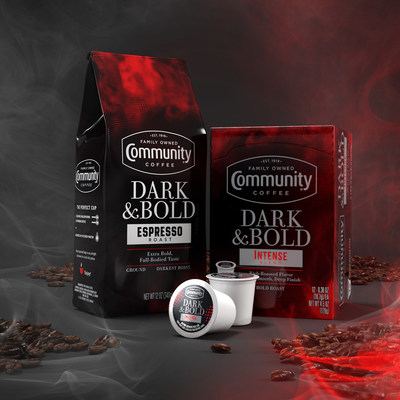 Community Coffee, the nation's No. 1 family-owned retail coffee brand, introduces its darkest blends yet with its new Dark & Bold offerings, available in two varieties, Intense Blend and Espresso Roast, in stores and online now.