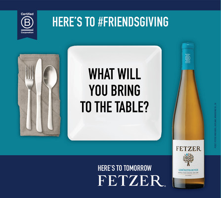 """Fetzer®, the iconic California vintner, has announced its biggest-ever Thanksgiving campaign: """"Here's to #Friendsgiving"""" offers a 2021 take on traditional Thanksgiving campaigns, as America's most diverse generation yet comes to the table with new ways to connect – and new foods to favorite – this holiday."""