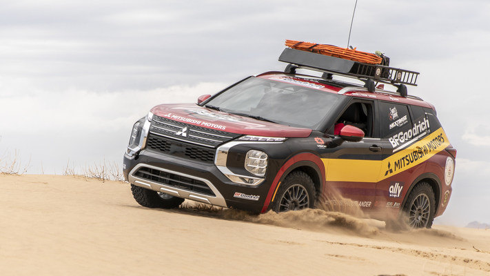 Sporting a livery that celebrates Mitsubishi's 2001 Dakar Rally overall win in a vehicle driven by Jutta Kleinschmidt, the first and only woman to ever win the event overall, the 2022 Mitsubishi Outlander is ready to tackle the all-women 2021 Rebelle Rally
